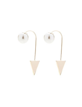 PEARL GOLD TRIANGLE EARRINGS