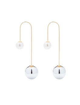 JESSICA RHODIUM SPHERES EARRINGS