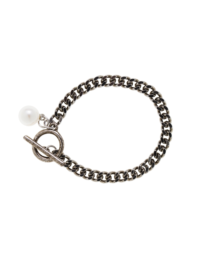 lyst normal for jewelry product silver men laurent saint metallic in chain bracelet
