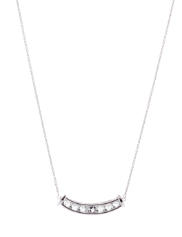 SMILE PENDANT RHODIUM NECKLACE